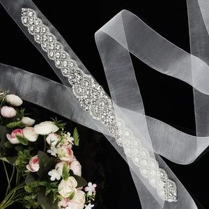 Accessories - BEST SELLER🔥See Through Pearl Crystal Bridal Sash